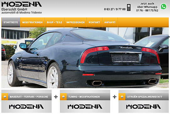 website modena performance maserati tuning